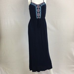 Lily Rose Blue Maxi Sundressop